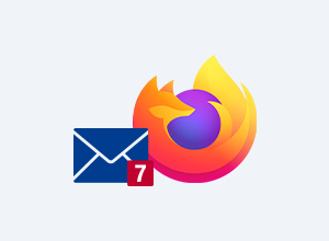 Firefox Browser mit MailCheck