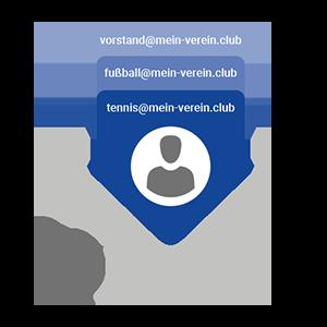 Karteikarten mit personalisierten E-Mail-Adressen