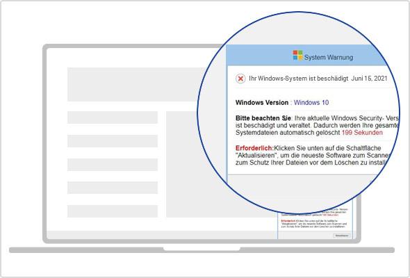 Ein vermeintliches Software-Update soll Sie zum Download drängen.