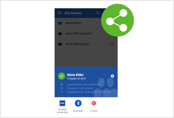 In der Mail App für Android klappt das Teilen jetzt in zwei Schritten