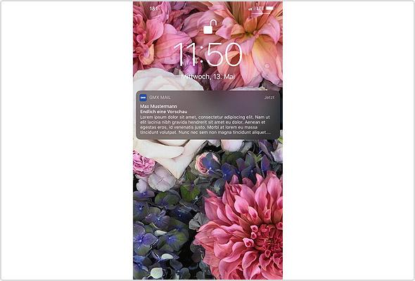 iOS App: Vorschau des Mail-Textes in den Push-Benachrichtigungen
