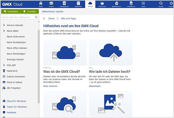 Auf der Cloud-Startseite oder der Hilfe & Tipps-Seite der Cloud finden Sie verschiedene Touren