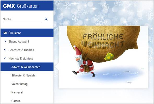 Hier sehen Sie ein weihnachtliches Grußkarten-Beispiel