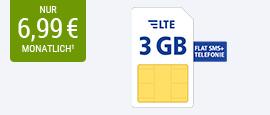 Exklusiver Handytarif: 3 GB LTE