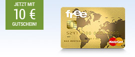 free Mastercard Gold + 10 € BestChoice Gutschein