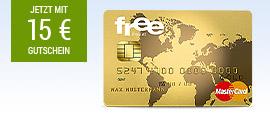 free Mastercard Gold + 15 € BestChoice Gutschein
