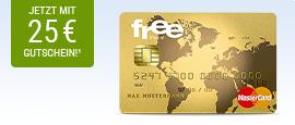 free Mastercard Gold + 25 € BestChoice Gutschein