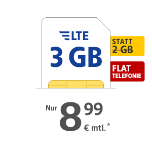 3 GB LTE Internet