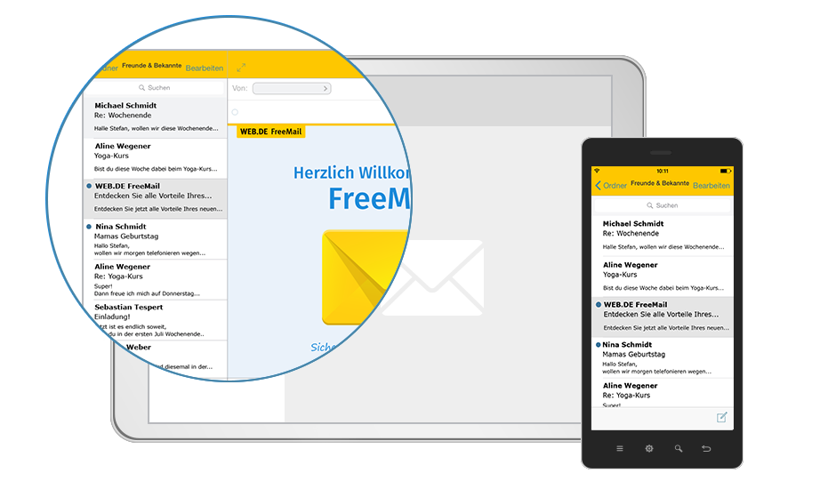 WEB.DE Mail App & FreeMessage