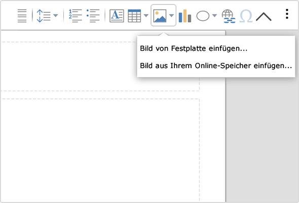 Jetzt im Online Office möglich: Bilder aus dem Online-Speicher einfügen
