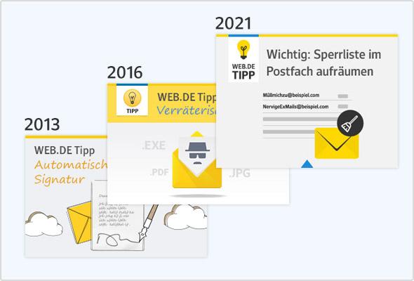 Blog-Design im Wandel der Zeit.