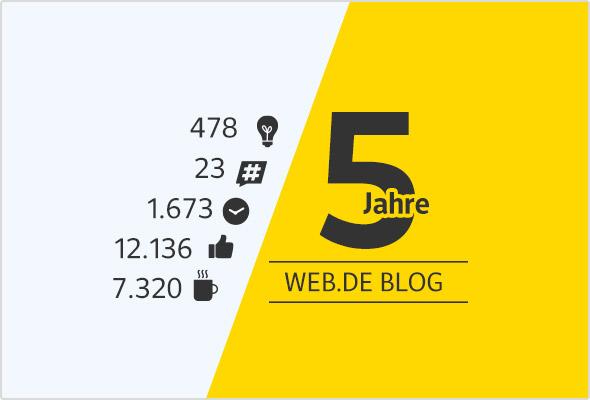 Zahlen, Daten und Fakten zum WEB.DE Blog.