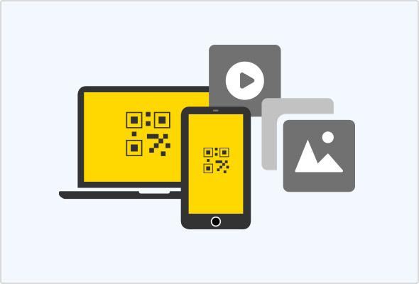 Dateien vom Smartphone per QR-Scan in den Online-Speicher hochladen