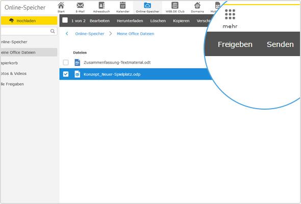"""Durch Klick auf den """"Senden""""-Button wird automatisch ein E-Mail-Entwurf mit der ausgewählten Datei erstellt."""