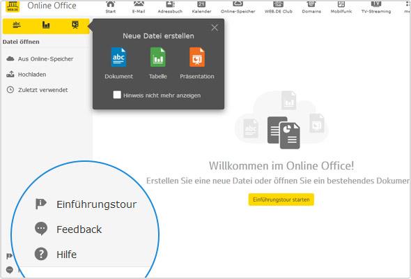 """""""Willkommen im Online Office!"""" So begrüßt Sie Ihr """"digitales Büro"""" im Postfach"""