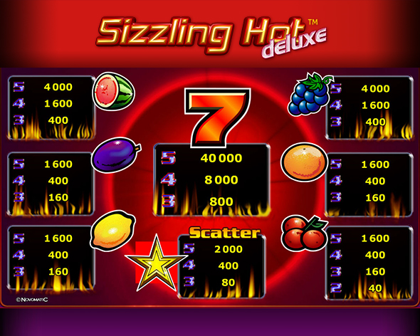sizzling hot online flash game