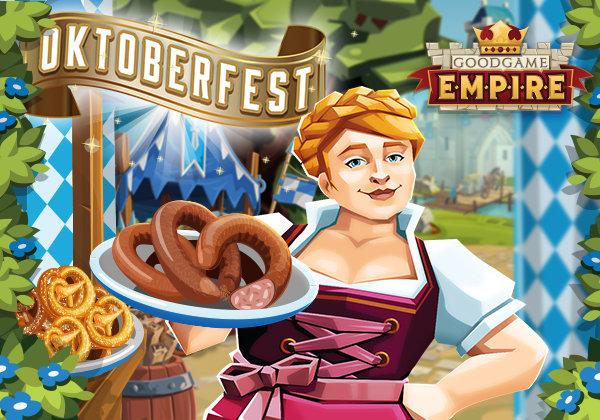 Dirnd, Brezeln und Würste zum Oktoberfest