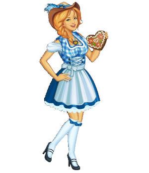 Dirndl, the german Oktoberfest dress