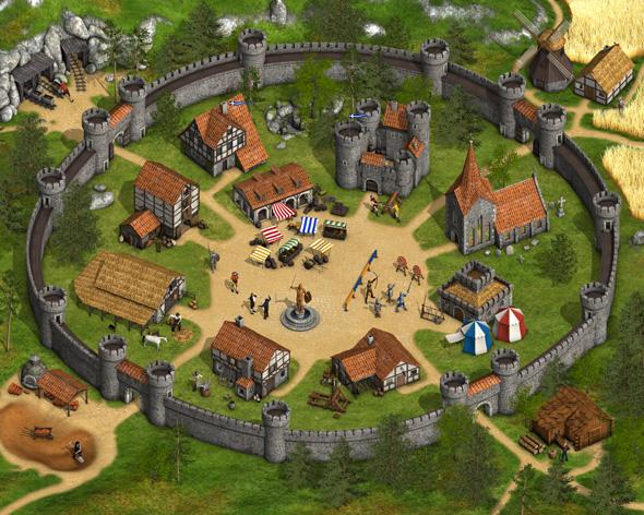 Die Stämme Ihr mittelalterliches Dorf