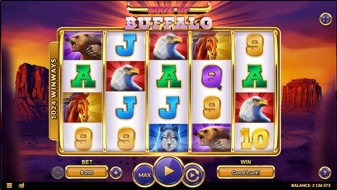 Book of Buffalo, the famous slot machine.