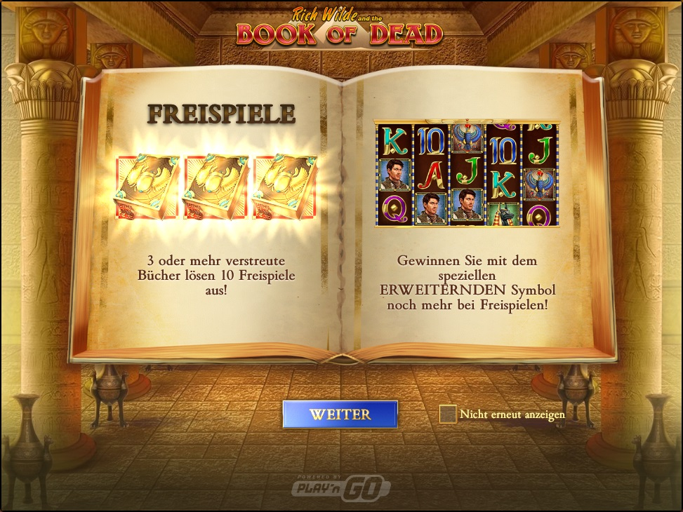 Book of Dead - Gewinnen Sie Freispiele