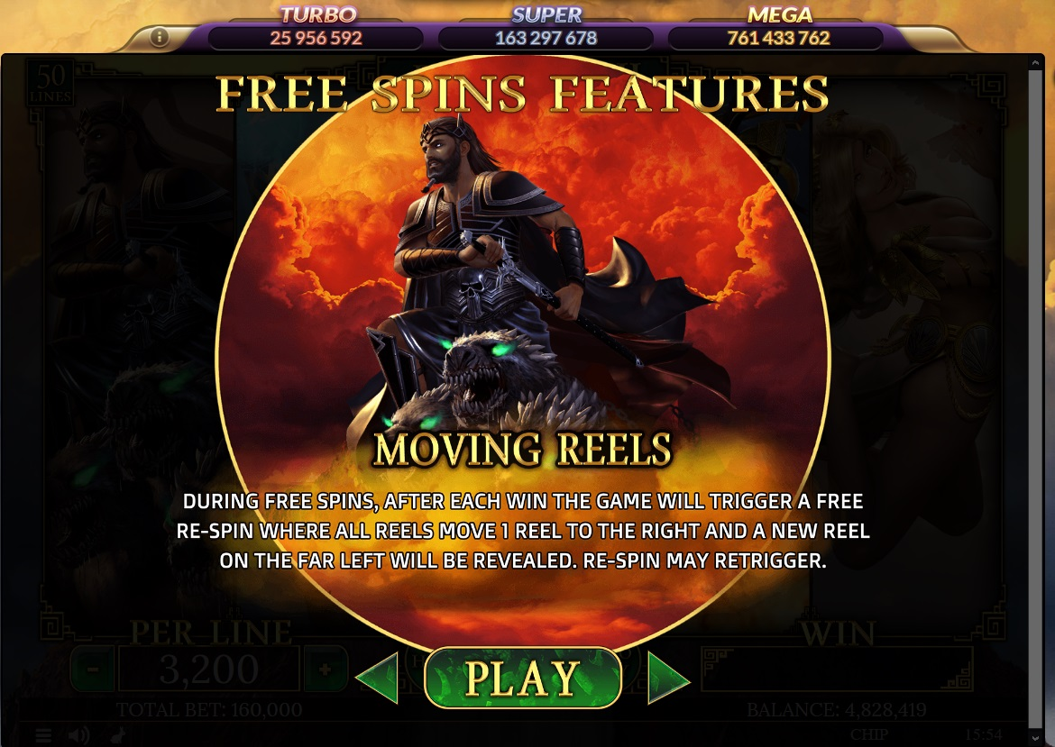 Free spins features
