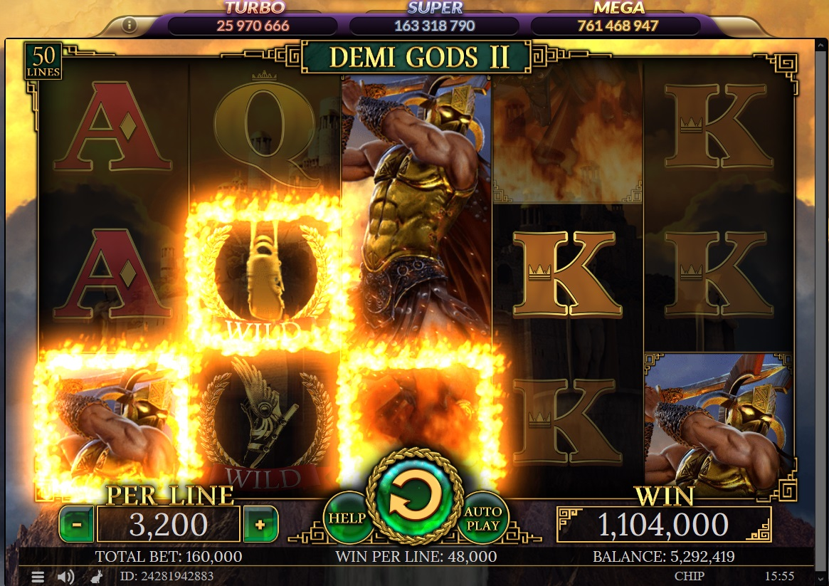 Find the Demi Gods 2 symbols