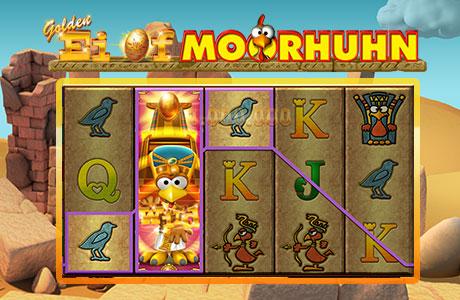 Finden Sie das Pharao-Moorhuhn!