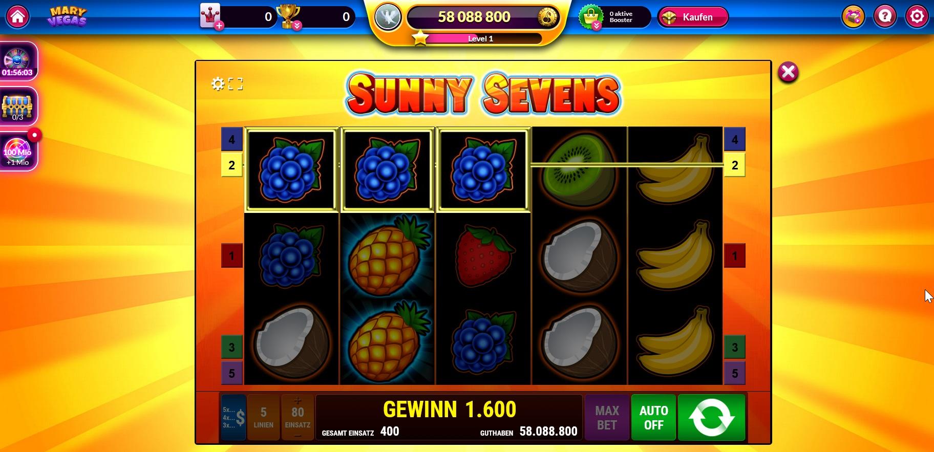 """Tolle kostenlose Slot Machines wie """"Sunny Sevens"""""""