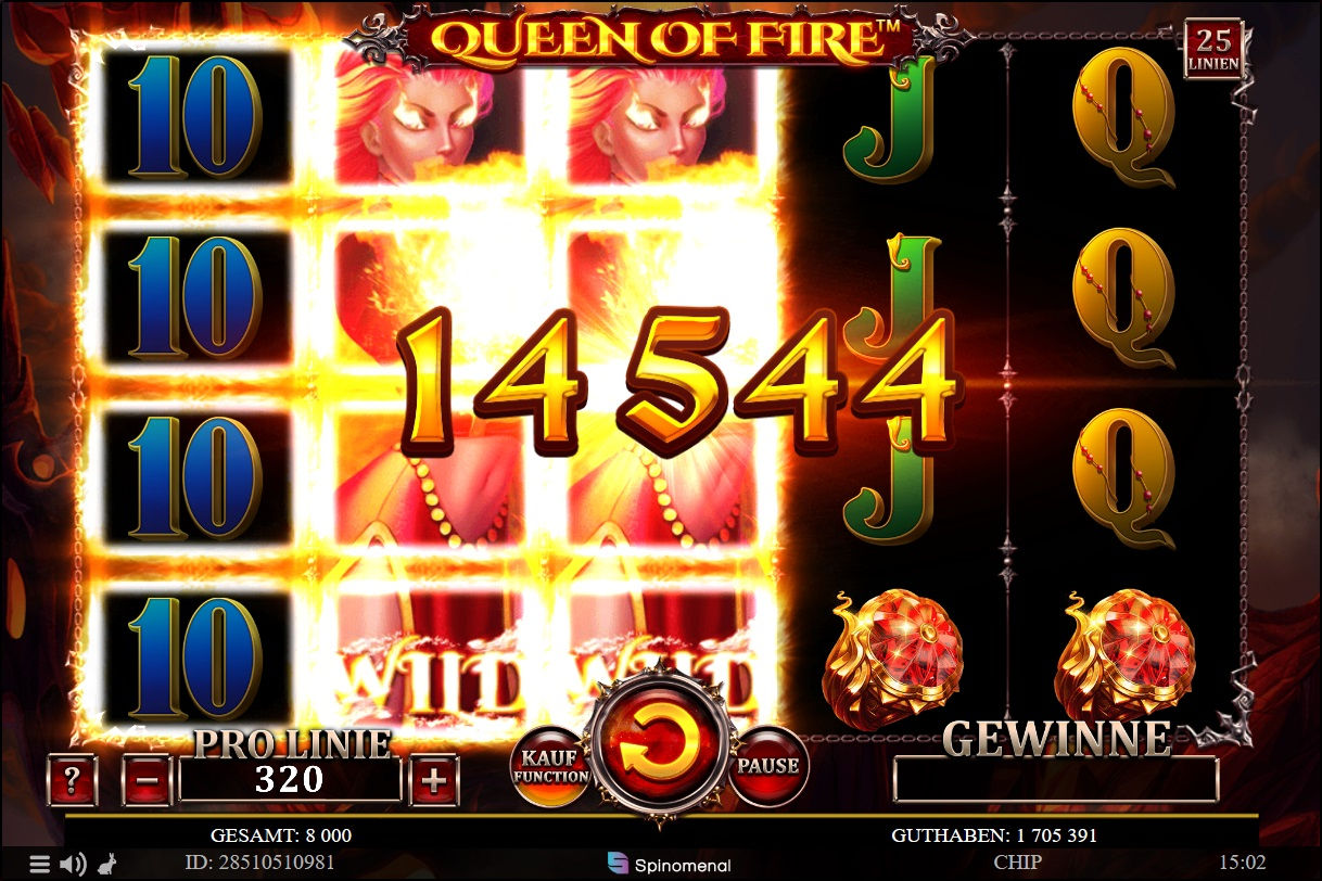 High wins with the Queen of Fire.