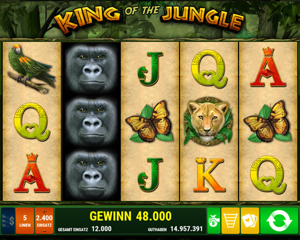 King of the Jungle kostenlos spielen | Online-Slot.de