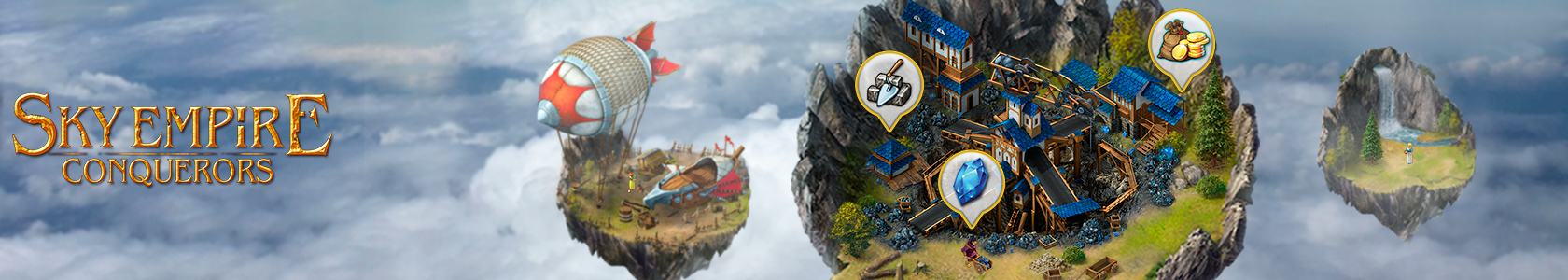 Skye Empire - Bauen Sie Ihre Himmels-Festung!