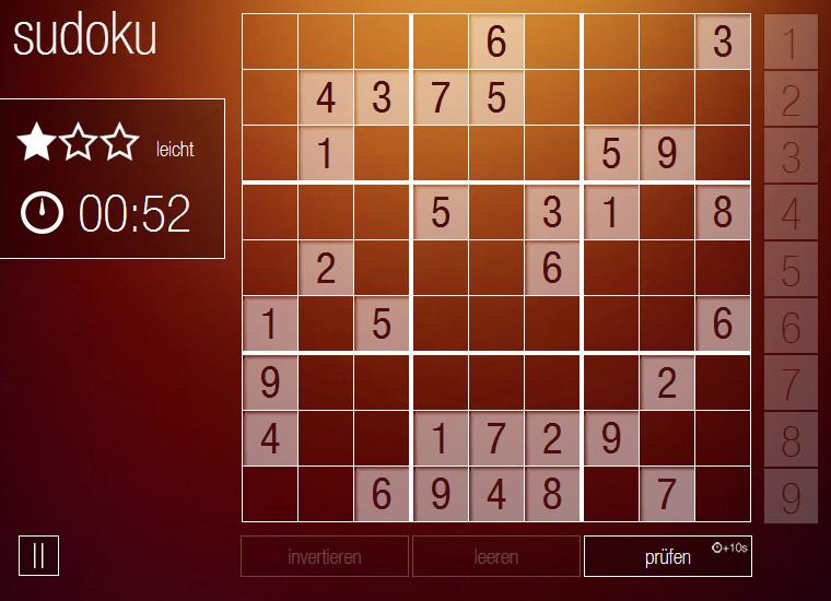 gratis spiele sudoku