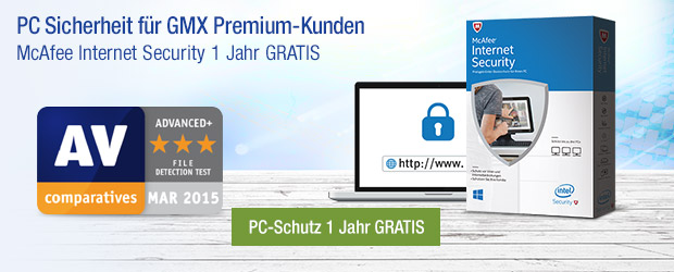 PC Sicherheit Aktionsangebot - McAfee Internet Security 1 Jahr GRATIS