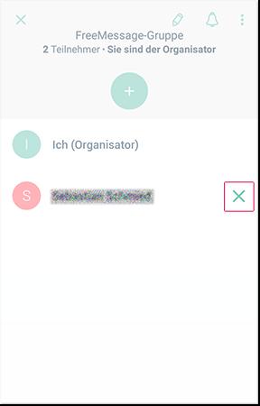 Kontakte aus einer Gruppe entfernen
