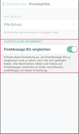 FreeMessage IDs vergleichen
