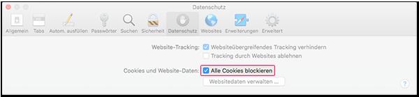 Cookies blockieren