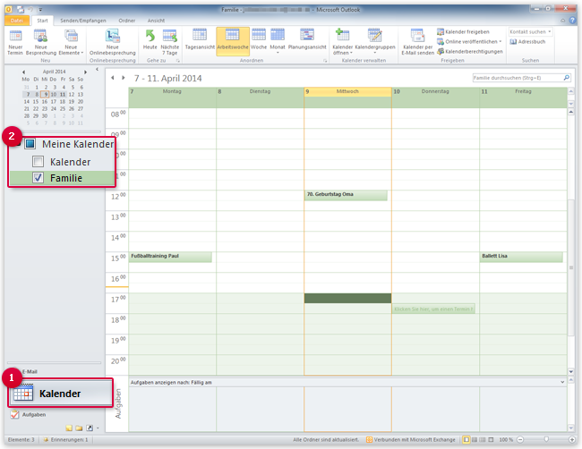 Outlook Kalender exportieren