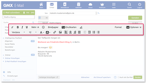 E-Mail im HTML-Format