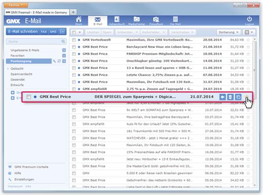 """So markieren Sie eine E-Mail als """"Kein Favorit"""""""