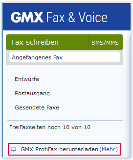 Fax-Applikation installieren