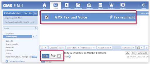 Fax empfangen