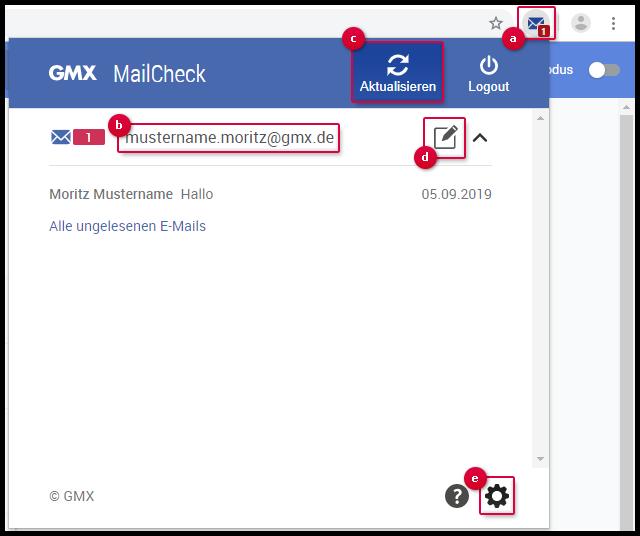 Funktionen von MailCheck