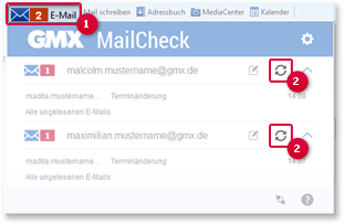 Auf neue E-Mails prüfen