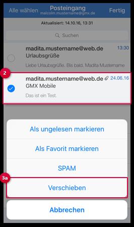 E-Mail verschieben