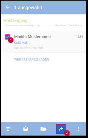 Auf eine Mail antworten