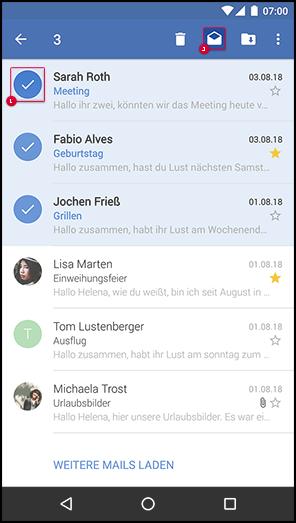 Mail als gelesen / ungelesen markieren