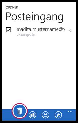 E-Mail löschen