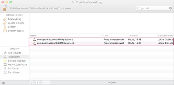 Schlüsselbundverwaltung - Passwörter