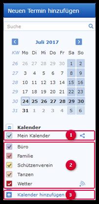 Zusätzliche Kalender